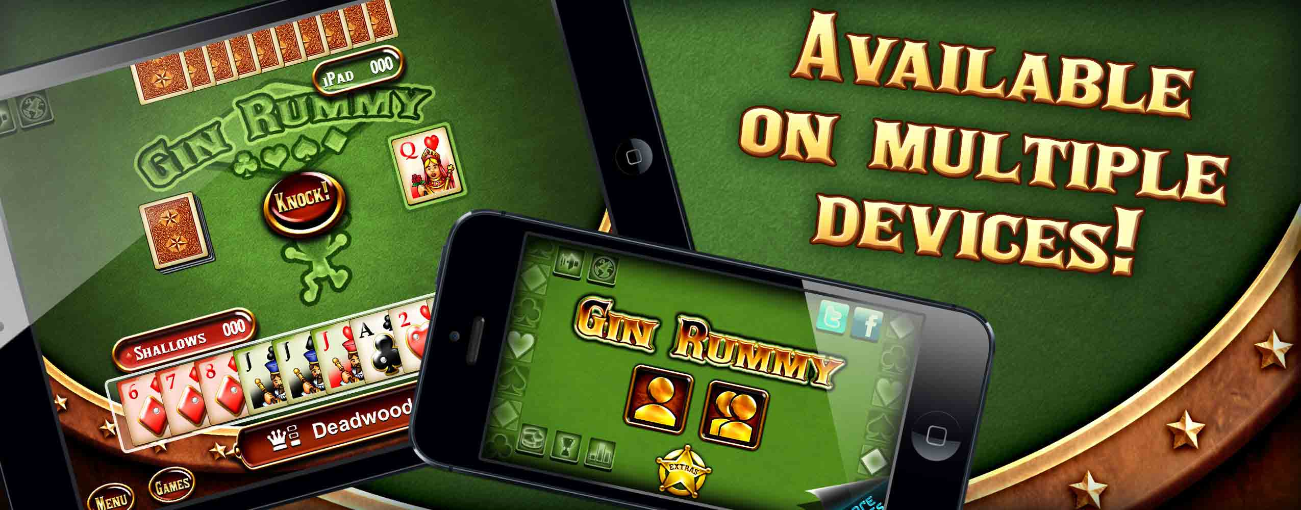 Gin Rummy is available on multiple devices!